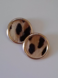 Leopard Print Clip-on Earrings, St. Eugene's Cathedral Thrift Store