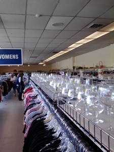 Interior of Goodwill Thrift Store in Petaluma, CA