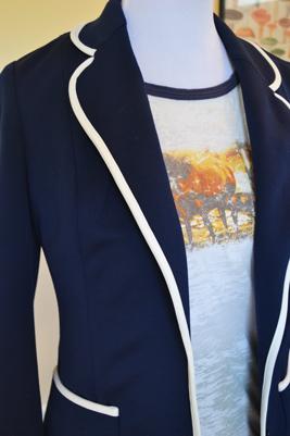 classy navy blazer