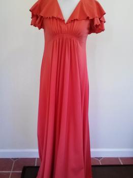 Floor-length salmon dress from Goodwill Petaluma