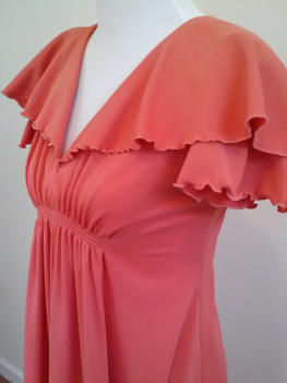 Front of Floor-length salmon dress