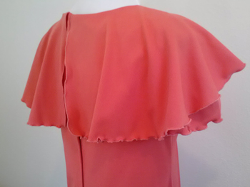 Back of floor-length salmon dress from Goodwill Petaluma