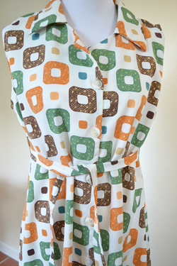 Vintage Block Pattern Dress from Goodwill Santa Rosa, CA