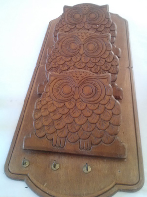 Retro Owl Mail and Key Organizer