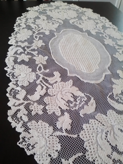 wedding style: vintage retro crochet and lace doilies collected from thrift stores