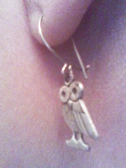 vintage retro owl earrings