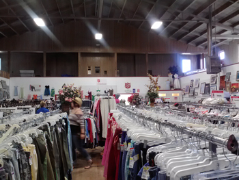 Inside the Thrift Store at Salvation Army Healdsburg, CA