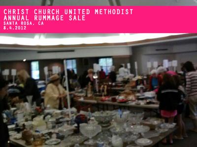 Christ Church United Methodist Santa Rosa, CA Annual Rummage Sale