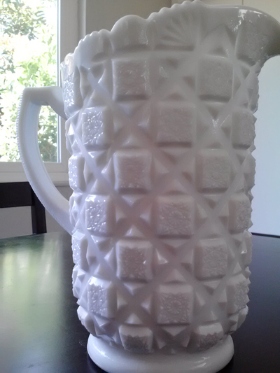 milk glass antique retro pitcher