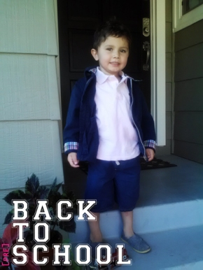 boys clothing, Polo jacket, Gap Kids pink polo shirt and navy shorts, back-to-school shopping