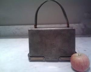 retro vintage triangle new york handbag purse