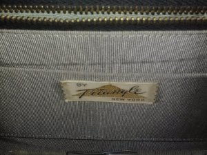triangle new york vintage retro handbag