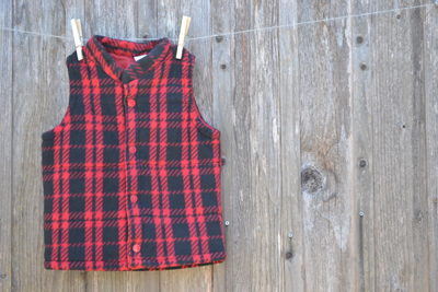 boys clothing, lumberjack style  fleece vest, back-to-school shopping