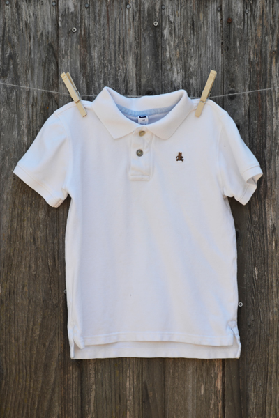 boys clothing, Gap Kids white polo shirt, back-to-school shopping
