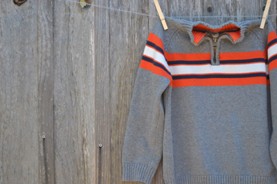 boys clothing, Osh Kosh gray striped sweater, back-to-school shopping